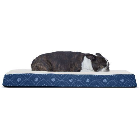 Furhaven Pet Dog Bed Deluxe Orthopedic Faux Sheepskin Mattress Pet