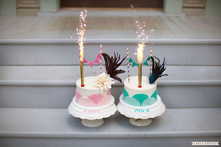 Amazing first birthday smash cakes for boy/girl twins! #firstbirthday #smashcake: Theme Birthday Parties, Twins 1St Birthdays, Twin 1St Birthday, Theme Parties, Twin Birthday Cakes, Gatsby Theme, First Birthday, 1St Birthday Cakes, Birthday Ideas