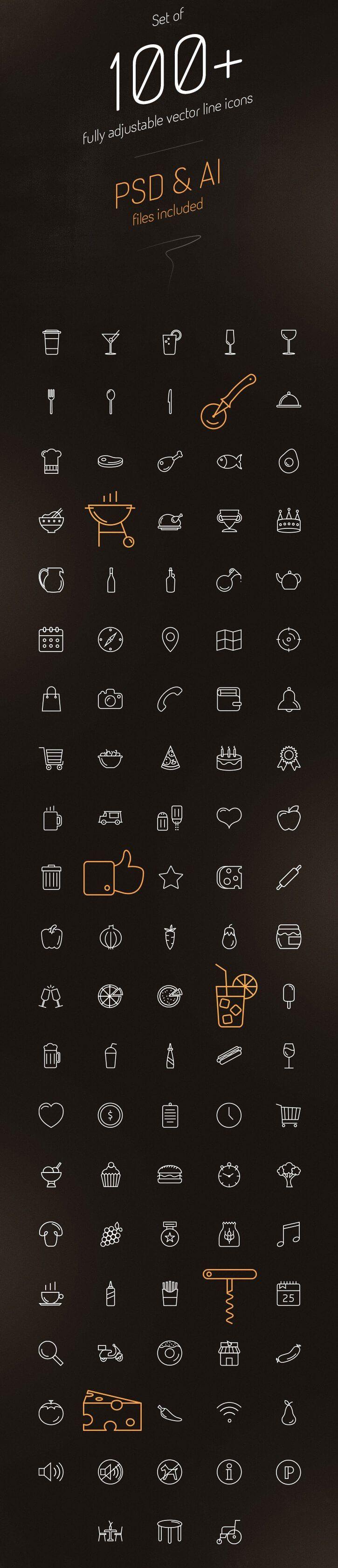 iconos para restaurantes