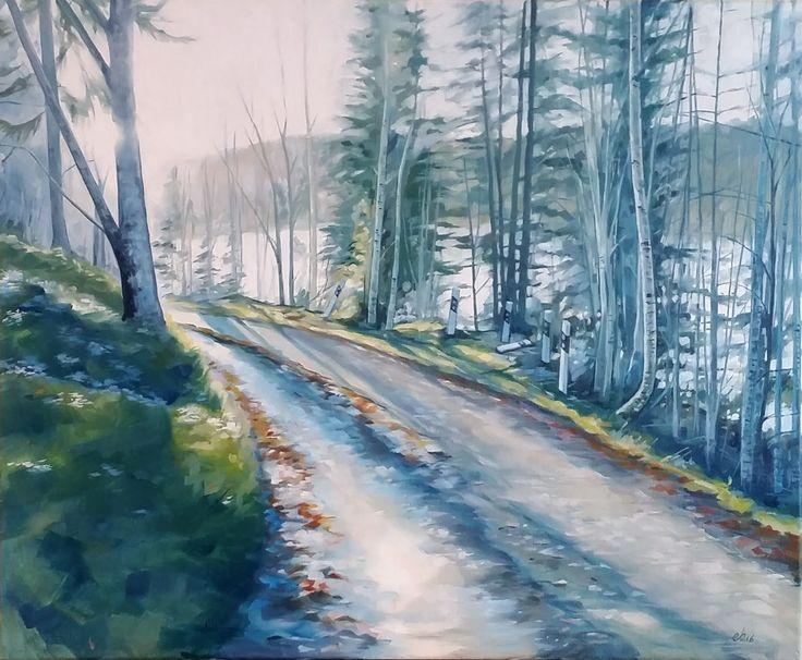 Mötesplats vid sjön.  #målning #oljemålning #oljemålningar #konst #erikspalett #painting #oilpainting #oilpaintings #art #artist #sweden #härnösand #häggdånger #oil #colors #oilcolor #colour #oilcolour