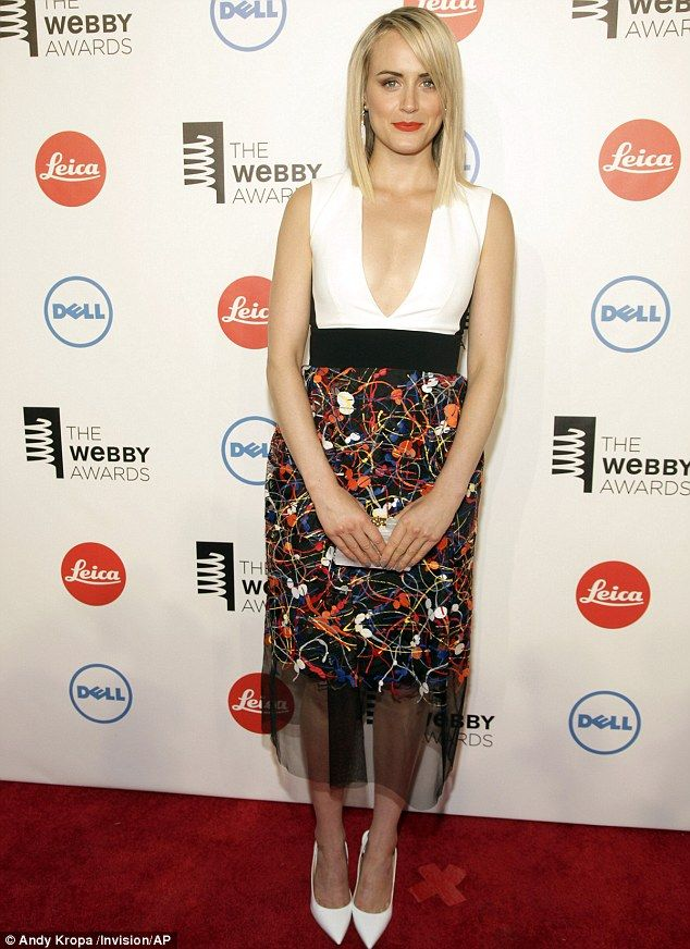 Taylor Schilling wore a revealing dress as she attended the 2014 Webby Awards at Cipriani Wall Street in New York City.