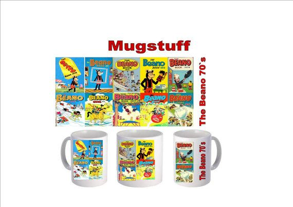 Picture Mug which can be Personalised The Beano 1970s by Mugstuff, £5.00