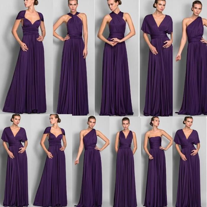 Light Purple Bridesmaid Dresses Cheap 2015 Long Chiffon Bridesmaid Convertible Dresses Floor Length Hot Selling Wedding Bridesmaid Dress Vintage Style Bridesmaid Dresses From Gumingzi1, $60.74| Dhgate.Com