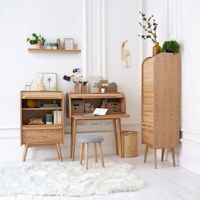 Bureau A Rideau Wapong Chene La Redoute Interieurs La Redoute En 2020 Classeur A Rideau Decoration Maison Meuble Moderne