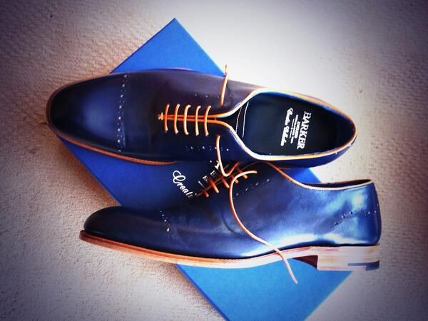 A customers picture of their recently purchased Barker McGregor shoes from ourselves