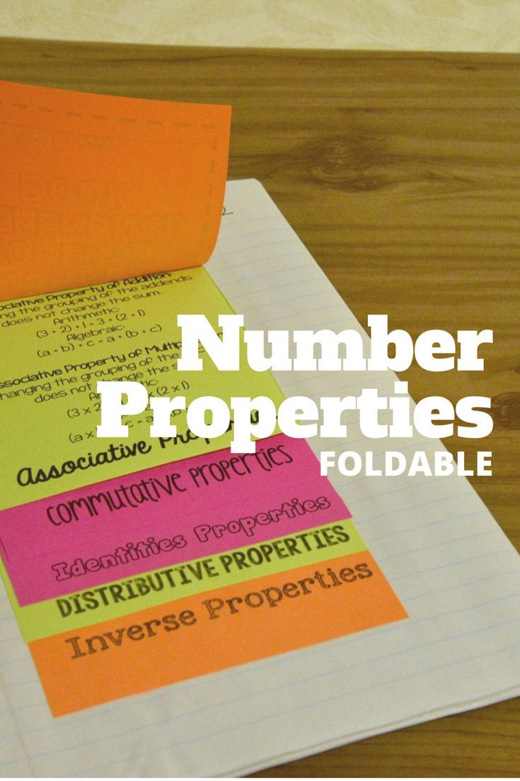 Number properties foldable