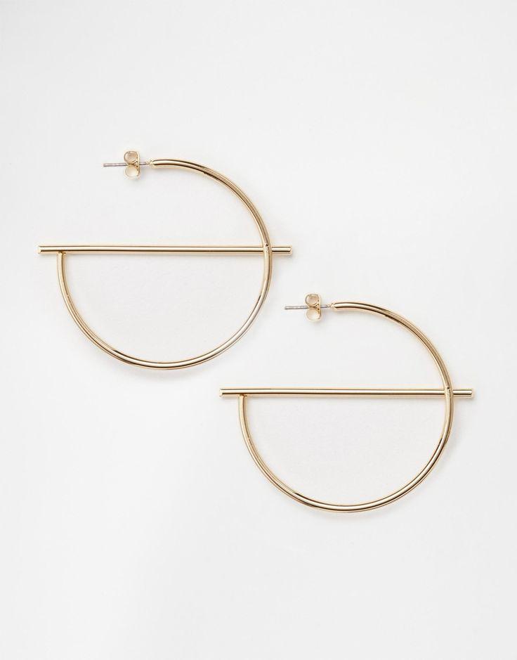 Monki+Half+Moon+Hooped+Earrings                                                                                                                                                      More