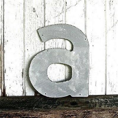 vintage letter a