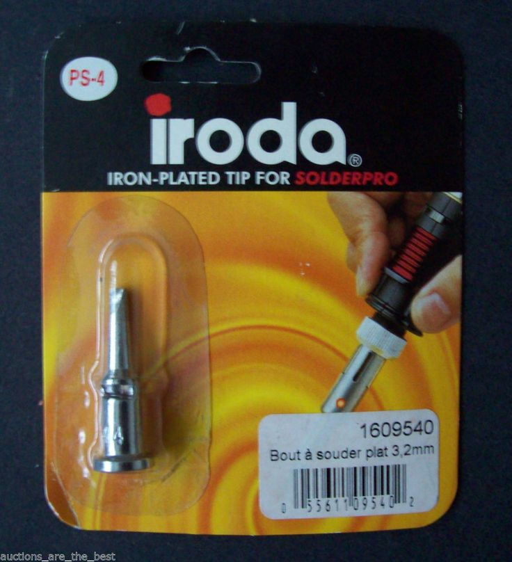 Iroda Iron-Plated Tip for Solderpro 120 Model PS-4 3.2mm New NIB *FREE SHIPPING*