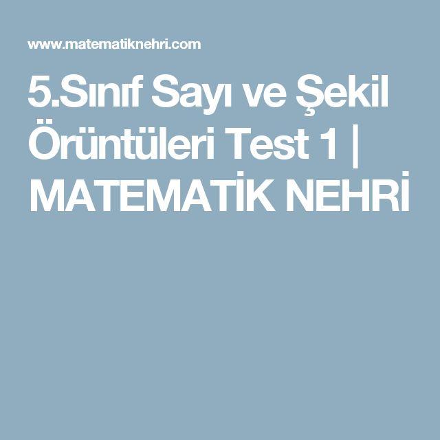 5.Sınıf Sayı ve Şekil Örüntüleri Test 1 | MATEMATİK NEHRİ