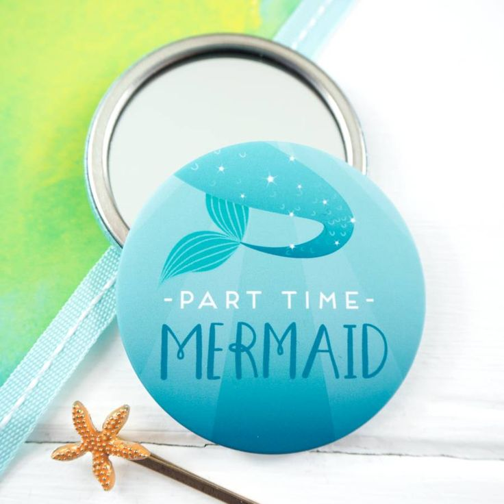 Are you interested in our Mermaid Pocket Mirror? With our Part Time Mermaid Gift you need look no further.