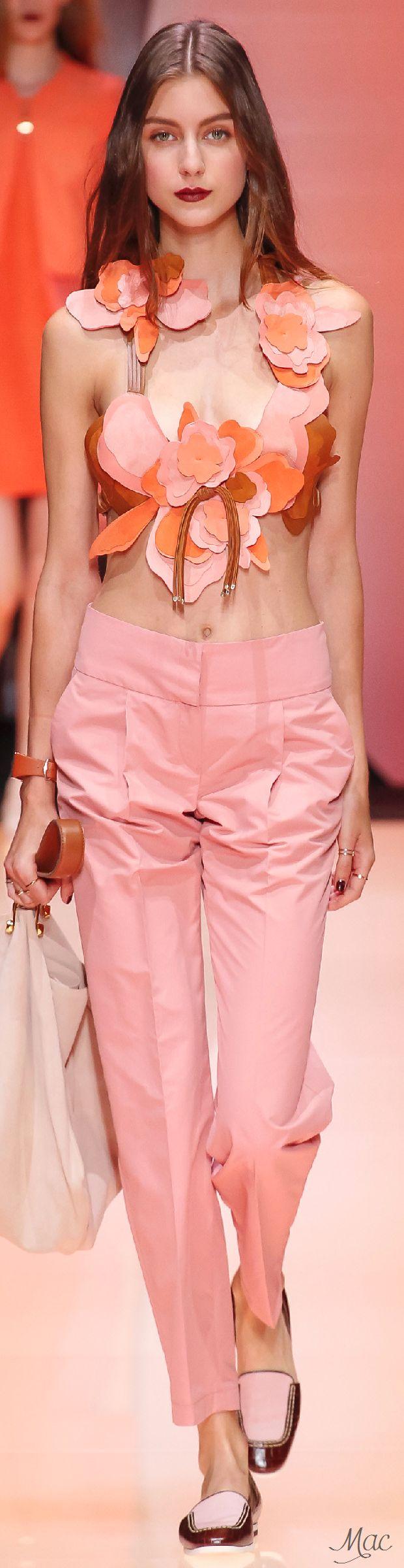 Spring 2016 Ready-to-Wear Emporio Armani women fashion outfit clothing style apparel @roressclothes closet ideas