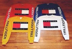 Pinterest- ChanelleRoseGold  shirt sweater tommy hilfiger tommy hilfiger crop top white sweater cropped sweater white