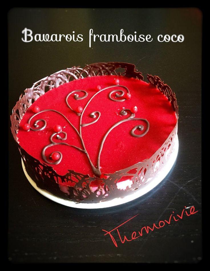 Bavarois framboise coco, recette au thermomix