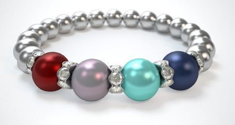 Wow !!! Very impressed with this bracelet. Can't wait to wear it to the wedding, it looks awesome with my gown. (Mother of The Groom).  I added my husband and my birth gem colors to add color to the 2 son's and it looks so pretty. Love it. I will be getting more as gifts.