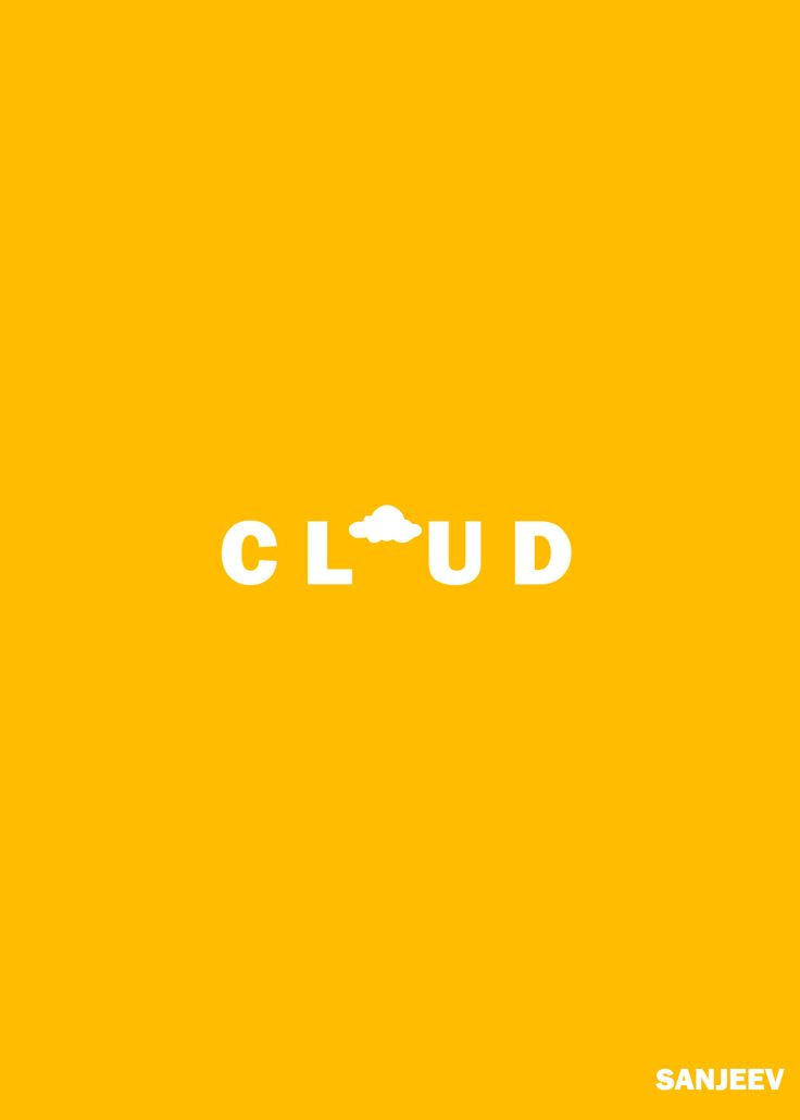 cloud typography