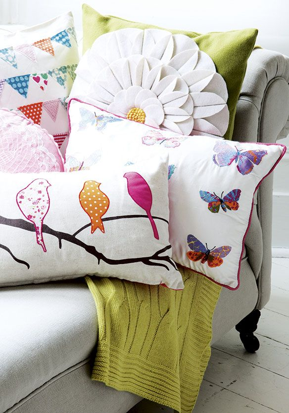 I love the birdy pillow, it's so darling. Choosing the perfect cushion - http://www.kangabulletin.com/online-shopping-in-australia/cushion-id-australia-choosing-the-perfect-cushion-has-never-been-easier/ #cushionid #australia #sale colourful cushions, couch throws or stadium cushions