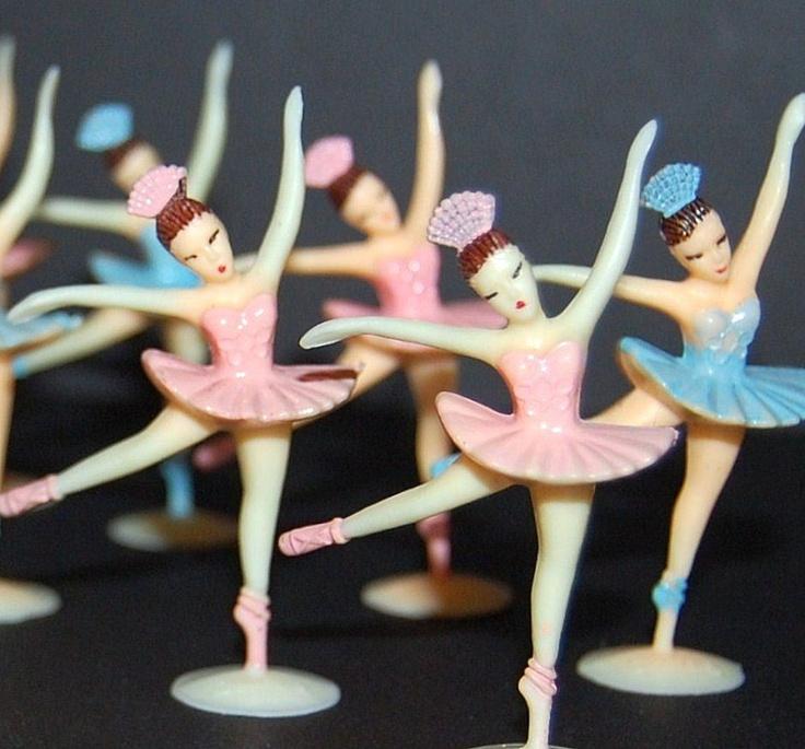 Vintage ballerina cake toppers