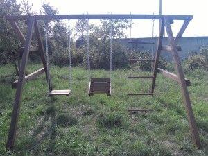 Деревянные качели - #игровойцентр