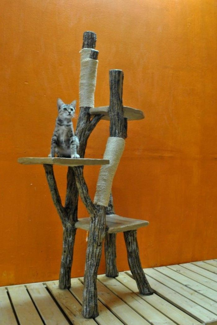 Build a scratching post yourself – 67 ideas and building instructions! – Archzine.net