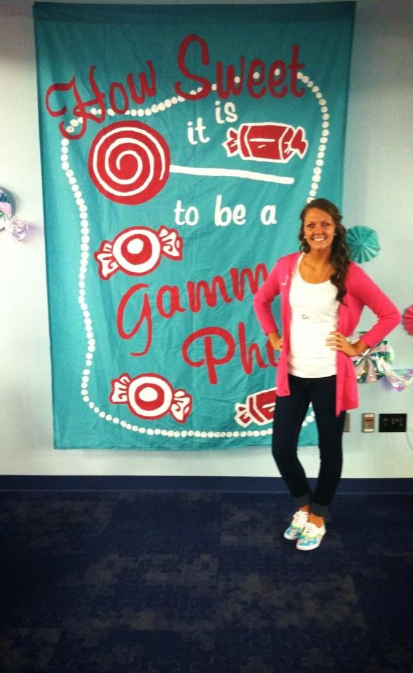 recruitment theme - how sweet it is to be a gamma phi beta