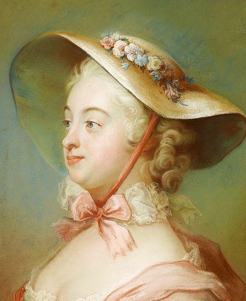 """Portrait of Juliana Dorotea Henck, married name Schröder (1733-1792)"", mid-18th C., by Gustaf Lundberg (Swedish, 1695-1786)."
