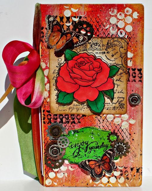 Scrapbook Flair: Pam Bray Designs: Enjoy Your Day Journal with Eileen Hull's Inspiration Team