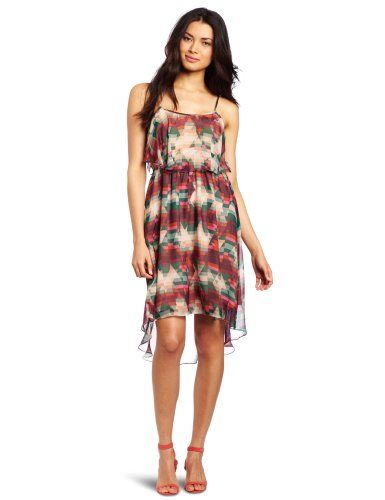 Aryn K Women's Print Dress, Pink Berry, Medium