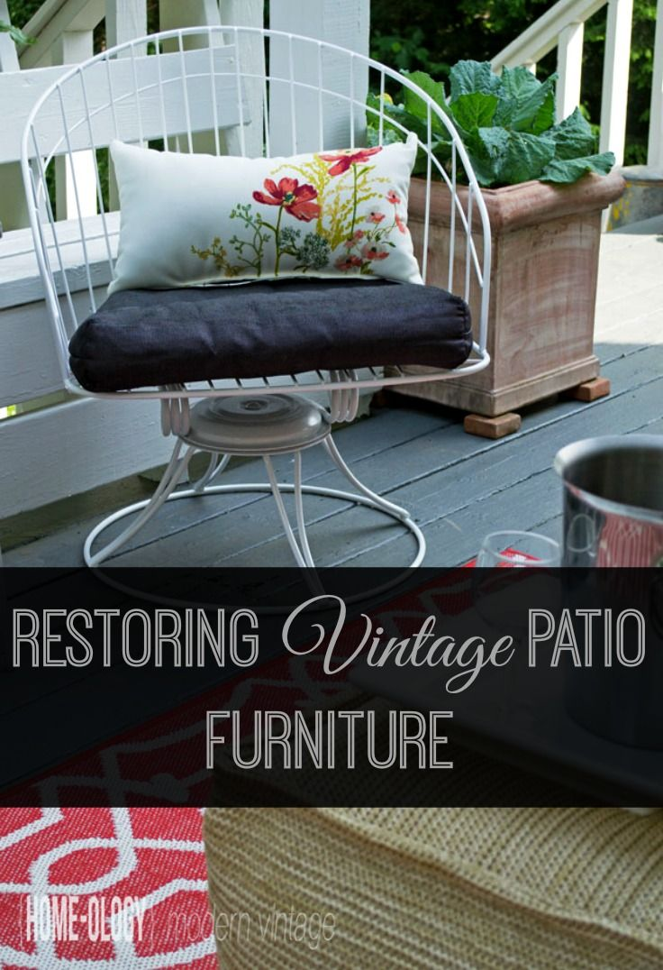 Things To Love Vintage Homecrest Swivel Chair Creating A Mcm Style For Our Outdoor