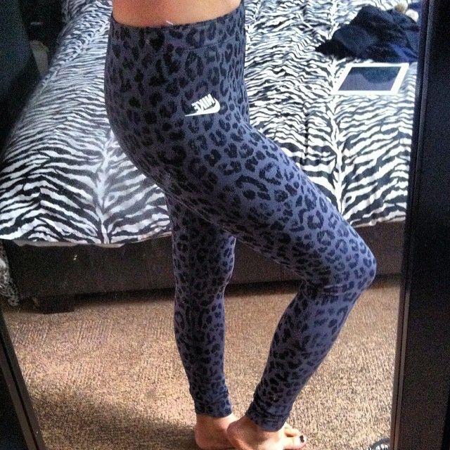 Nike<3 Workout Leggings<3 Leopard<3 Love!!!