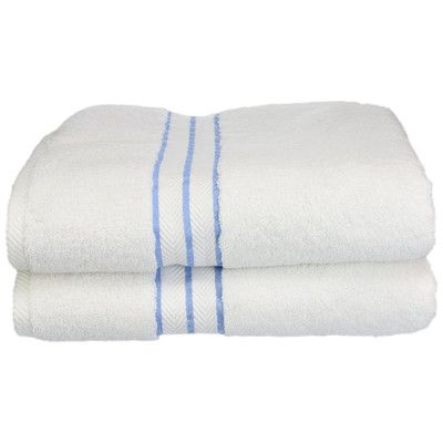 Simple Luxury Superior Hotel Collection 2 Piece Bath Towel Set & Reviews   Wayfair