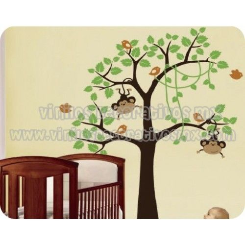 17 best images about decoracion de habitacion para bebe on for Vinilos decorativos arboles