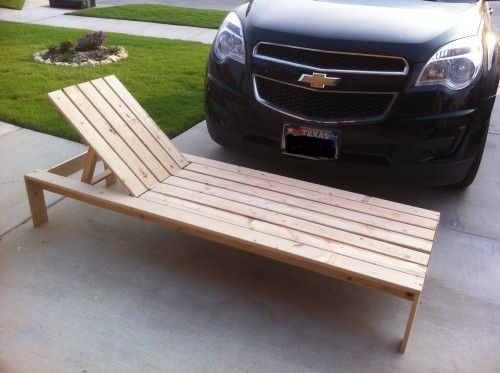 DIY chaise outdoor lounge chairs like in pottery barn!
