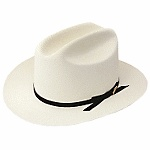 Men's Stetson Straw Hat - The Open Road Proverbial Stetson Open Road with 2 3/4 inch brim. USA.