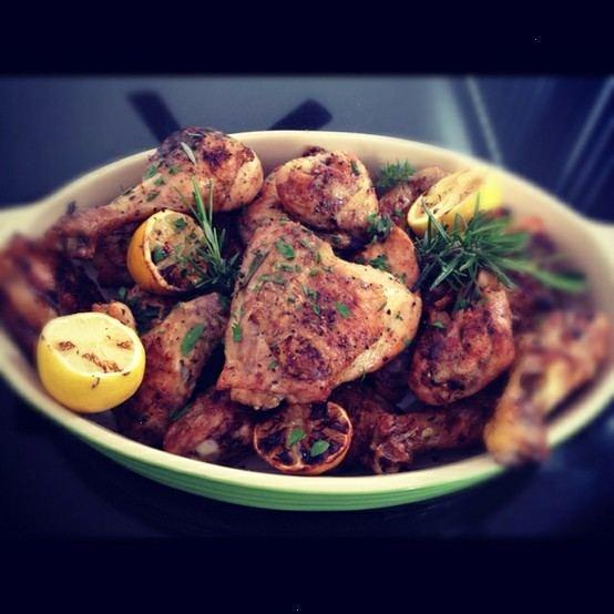 chicken with rosemary lemon and honey lemon rosemary roasted chicken ...
