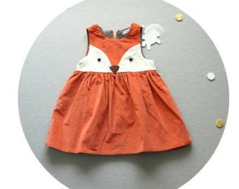"Baby/Toddler DarlingFox dress, available in 3 sizes! **shirt and shoes are not included** Size chart: 12 - 18 months: 17"" long Shoulder width: 7"" Bust: 22"" 2T: 18"" long Shoulder width: 8"" Bust: 23"" 3T"