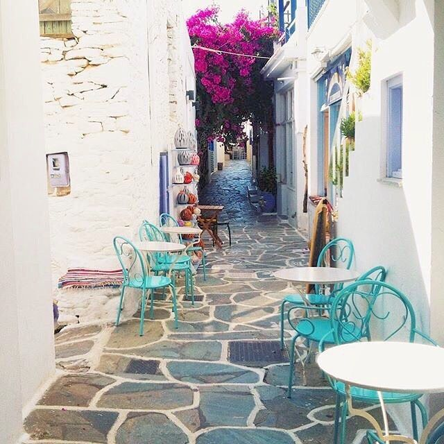 So Picturesque alley , at Kythnos island (Κύθνος). A traditional island with wild beauty and lovely beaches .
