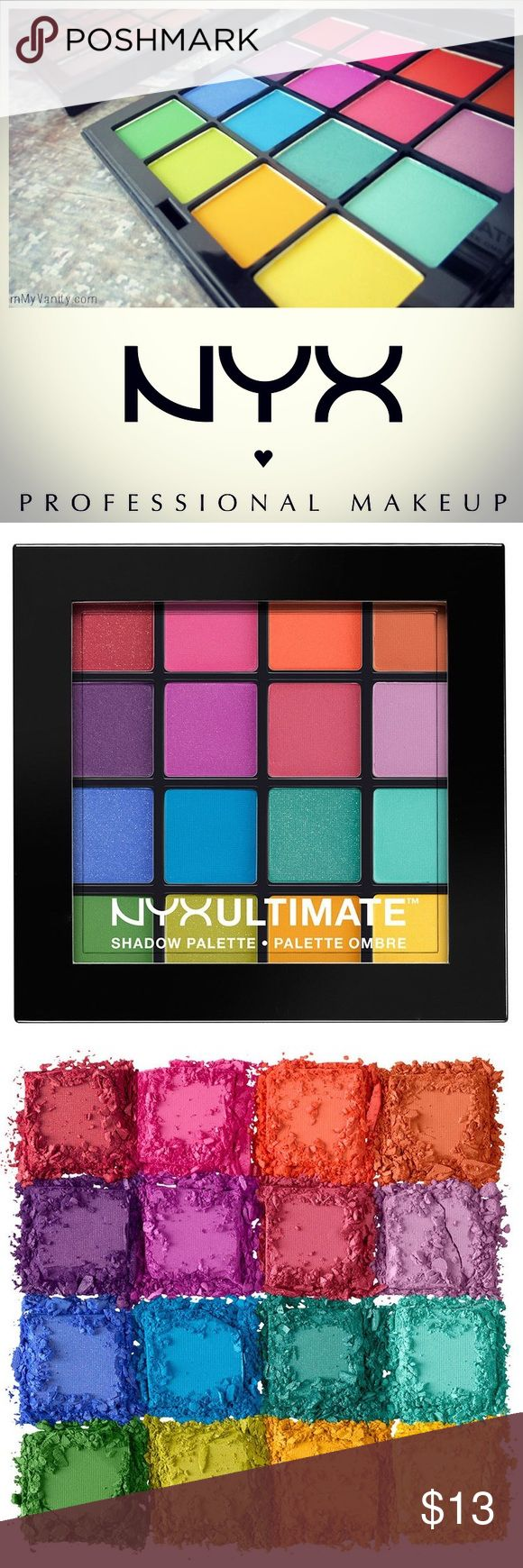 SALENEW NYX Cosmetics Brights Ultimate Palette FINAL PRICE BRAND NEW, unopened NYX Ultimate Shadow Palette palette in the 'Brights' color set. Original Retail: $19. Smoke free home.  NYX Cosmetics' Brights Ultimate Shadow Palette features 16 expertly coordinated eye shadows housed in one perfectly portable palette. Available in unique color combinations, each Ultimate Shadow 'Brights' Palette features captivating textures and shades of ultra bright color pops. NYX Makeup Eyeshadow