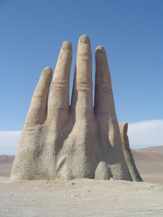 Hand of the Desert - Mario Irarrázabal (Antofagasta, Atacama Desert, Chile)