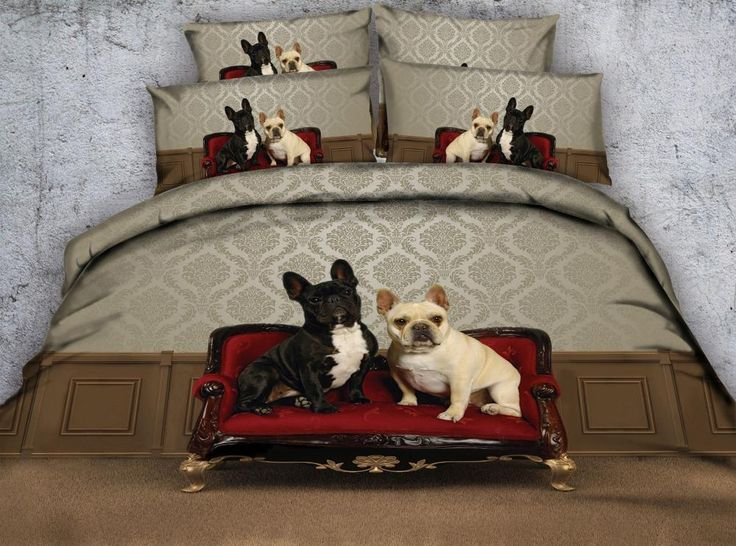 Cute Dogs 3D Bedding Set Comforter Bedspreads Quilt/Duvet Cover Single Twin Full Queen Super King Size Bed Children's Adult Home