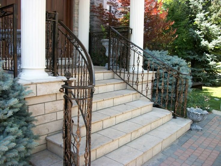 28 best iron railings by babin ironworks images on - Wrought iron handrails for exterior stairs ...
