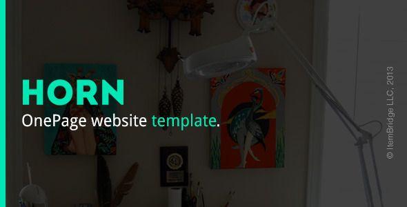 Horn — Responsive OnePage Template - Portfolio Creative