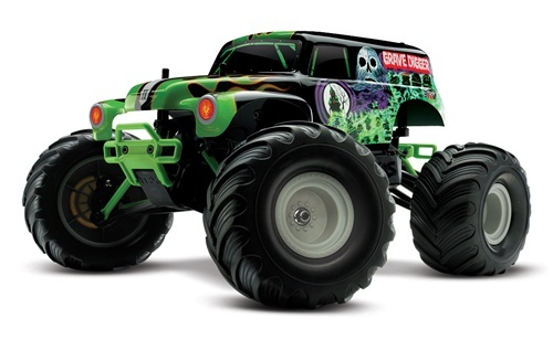 Traxxas Grave Digger, 1/16 scale  Ready-to-run rc truck & a blast to drive