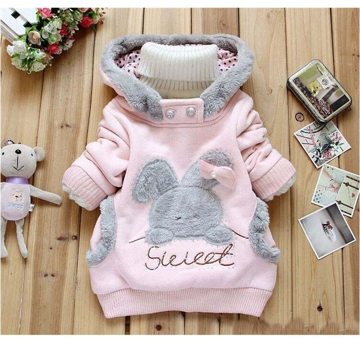 New Girls Coat Cartoon Rabbit Autumn Plush Girls Hoodies Full Sleeve Casual Kids Sweatshirts Children Coats Cotton kids Clothing //Price: €17.18 & FREE Shipping //   #fashion #baby #clothes #trendy #2017
