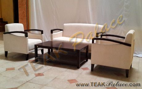 Kursi Tamu Modern Kayu Jati Lio Set 211 + Meja Tamu | Murah Furniture Jati Mebel Jepara