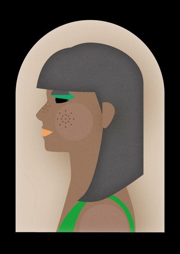 Portrait illustration in vector