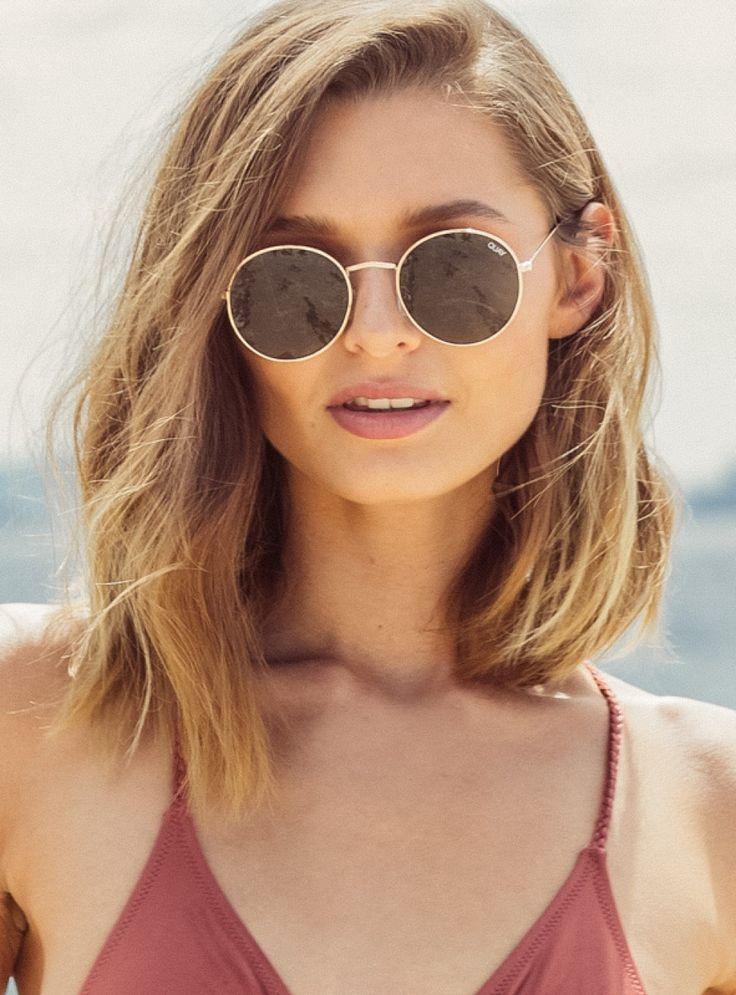 Quay Green Mod Star Sunglasses