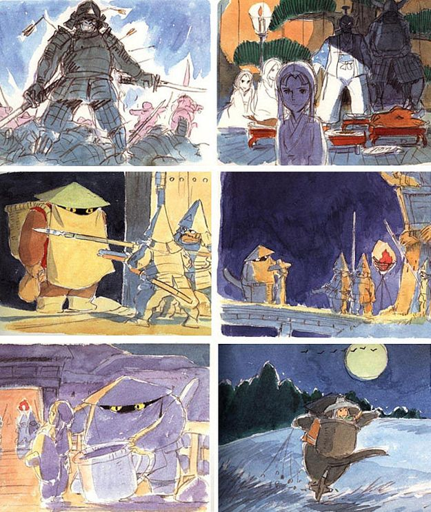 98 Charming Concept Sketches From Miyazaki Movies