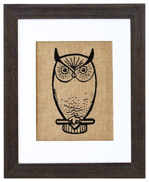 Nocturnal Owl Art - eclectic - Prints And Posters - Fiber and Water