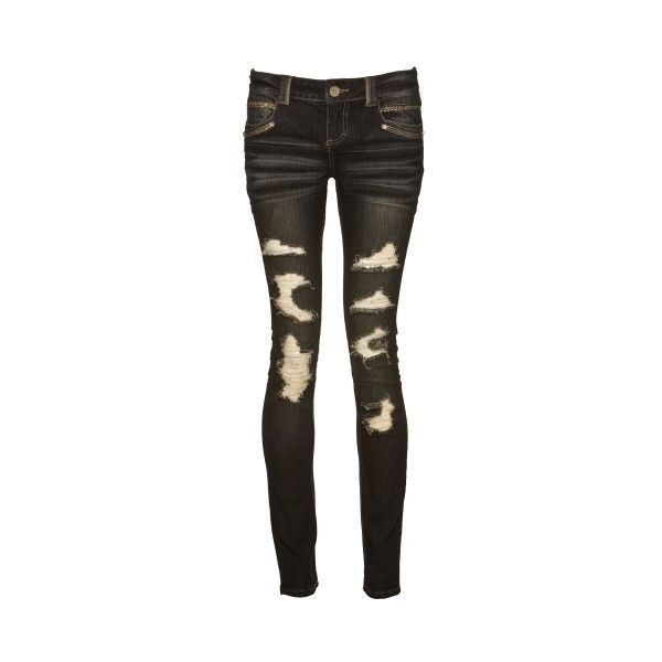 almost famous dark blast skinny 3-13 - Skinny - at debshops.com ($30) ❤ liked on Polyvore